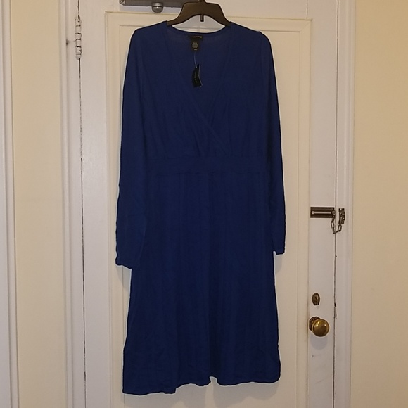 Lane Bryant Dresses & Skirts - Blue Long Sleeve Dress